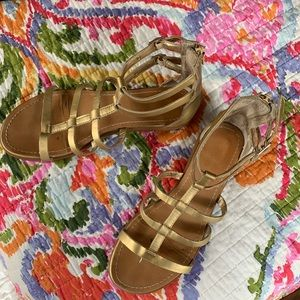Golden Gladiator Sandals